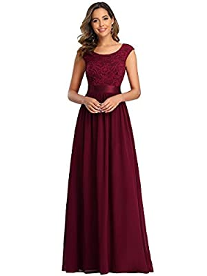 Fully lined, no built-in bras, low stretch Features: Cap Sleeve, embroidery, lace, tulip sleeves, round neck, backless, A-line, elegant, long party dress, party gowns Cap Sleeve design with lace embroidery, the dress makes you look charm, this brides...