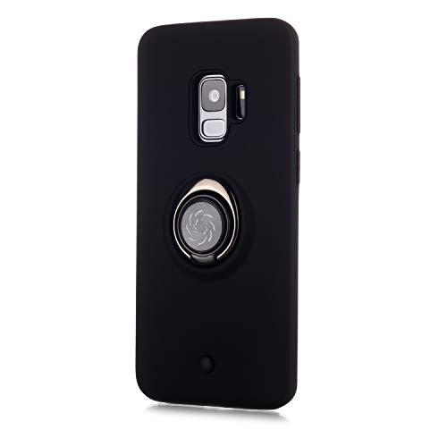 Custodia Samsung Galaxy S9,Shell PC+TPU Cassa Cover Supporto di Anello Rotante di 360Pulsante di...