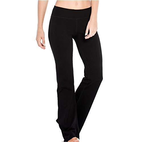 Houmous S-XXL Petite/Regular/Tall Length, Women's Yoga Bootleg Pants Inner Hidden Pocket Workout Pants(Petite-29 Inseam-Black, X-Large) 1