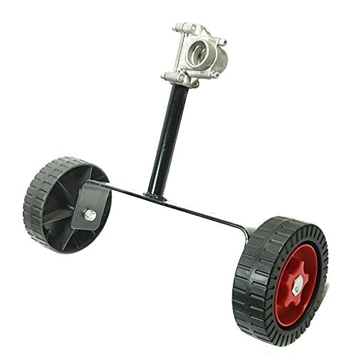 LUCKYHH - Ruote di supporto regolabili per tagliabordi, attacco universale per gas/benzina/decespugliatore elettrico decespugliatore 26 mm/28 mm