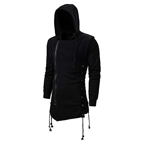 U/A Herren Assassin's Creed Sweatshirt Dark Hooded Loose Jacke Gr. M, Schwarz