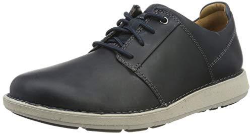 Clarks Un Larvik Lace, Zapatos de Cordones Derby para Hombre, Azul Marino, Piel Marina, 44 EU