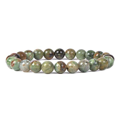 Justinstones Natural Green Opal Gemstone 8mm Round Beads...