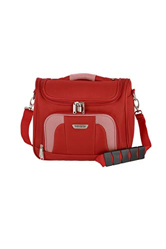 Gepäck Serie ORLANDO: Klassisches Weichgepäck Beautycase von travelite im zeitlosen Design, Handgepäck Kulturtasche mit Aufsteckfunktion, 098492-10, 19 Liter, 0,9 kg, Rot