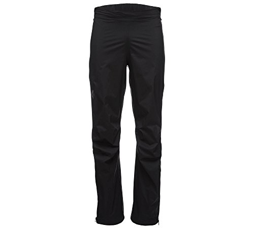 Black Diamond Men's Stormline Stretch Full Zip Rain Pants Black M