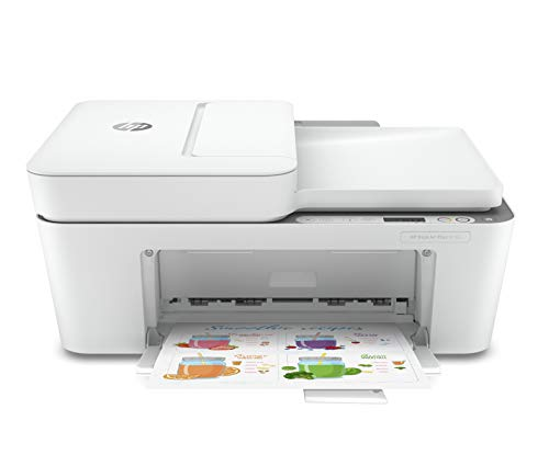 HP DeskJet Plus 4155 Wireless All-in-One Printer   Mobile Print, Scan & Copy   HP Instant Ink Ready   Auto Document Feeder (3XV13A)