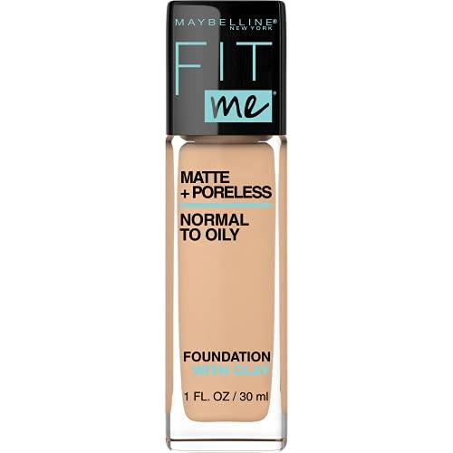 Maybelline Fit Me Matte + Poreless Liquid Foundation Makeup,...