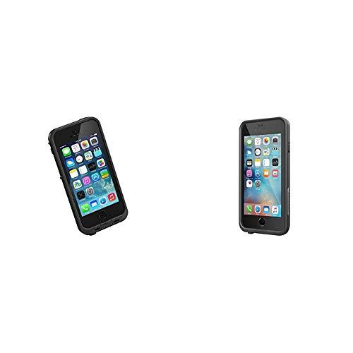 New LifeProof FR Series Waterproof Case for iPhone 5/5s/SE - Retail Packaging - Black Bundle with Lifeproof FR Series iPhone 6/6s Waterproof Case (4.7' Version) - Retail Packaging - Black