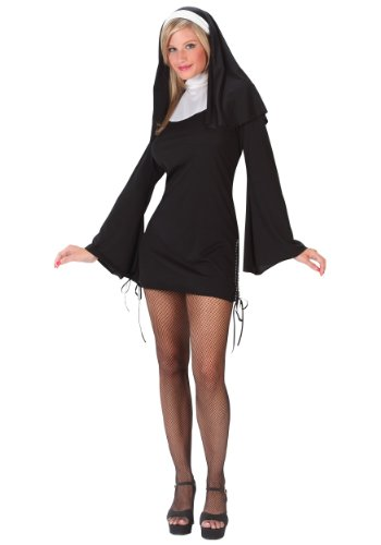 Naughty Nun Costume Small/Medium Black