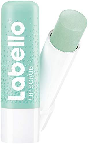 Labello Lip Scrub - Cuidado de labios innovador de aloe vera con partículas exfoliantes de origen natural, peeling de labios suave con vitamina E (5,5ml)