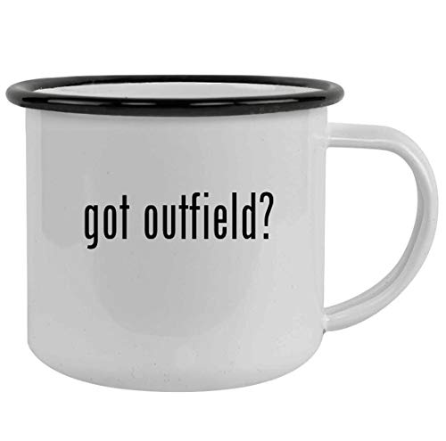 got outfield? - Sturdy 12oz Stainless Steel Camping Mug, Black