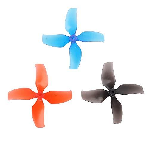 Lame per elica RC Drone, 10 Coppie 40mm 4 eliche compatibili con RC Tiny 7 / 7X / Snapper7 / Mobula7 / TRASHCAN Drone