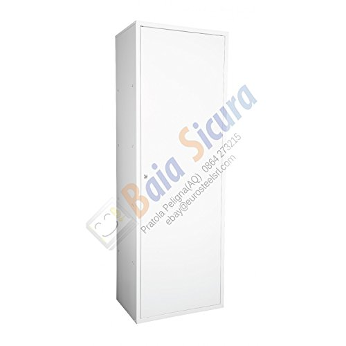 Armadio Portascope Porta Detersivi 180 x 60 x 40 Porta Bianca