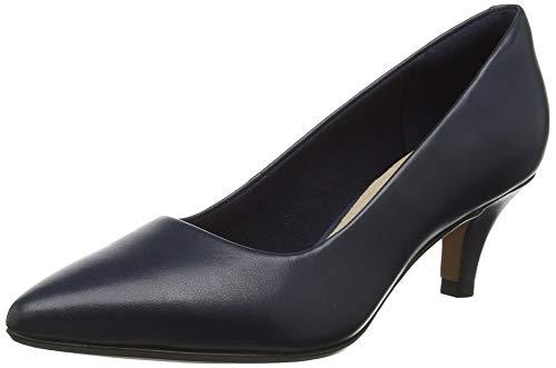 Clarks Linvale Jerica, Zapatos de Tacón para Mujer, Azul (Navy Leather), 43 EU