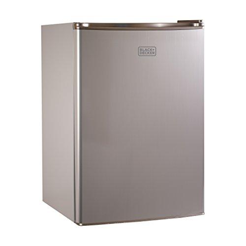 BLACK+DECKER BCRK25V Compact Refrigerator Energy Star Single Door Mini Fridge with Freezer, 2.5 Cubic Feet, VCM