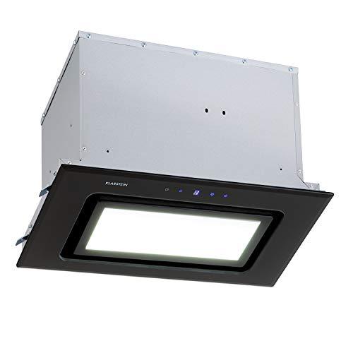 KLARSTEIN Hektor Brilliant Edition - Cappa Aspirante, 52 cm, Potenza di Scarico: max. 506 m/h, Classe Energetica: C, 3 Livelli, Timer, Pannello LED: 6500 K, Pannello Touch, Nero