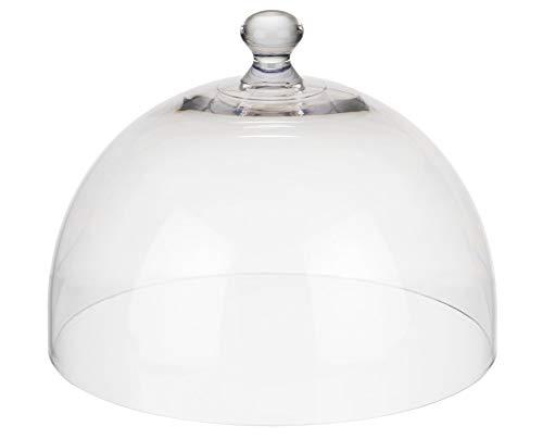 APS Frischhaltehaube, (Ø x H): 30 x 22 cm, Kunststoffhaube, Käseglocke, Abdeckhaube, transparent