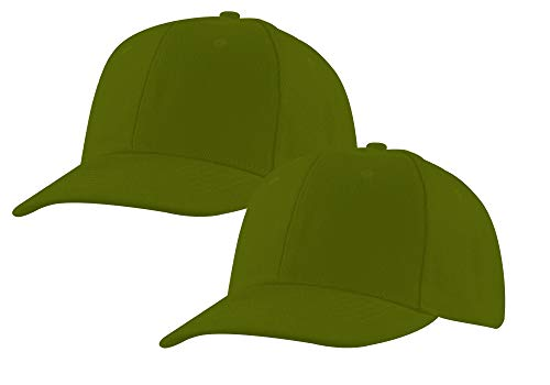 Baseball-Cap-2-Pack-Adjustable-Strap-Classic-Acrylic-Hats-Outdoors-Plain-Colors-Gift