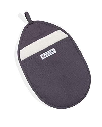 Le Creuset Presina con protezione extra del polso, Taglia unica, Grigio perla, Tela di cotone