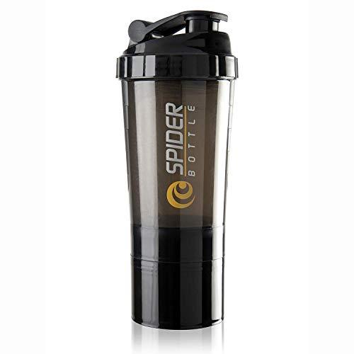 HAANS Spider Protein Shaker Bottle, 500ml (Color-Black)