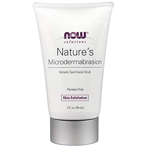 NOW Solutions, Nature's Microdermabrasion, Volcanic Sand Facial Scrub, Natural Skin Exfoliation, 2-Ounce