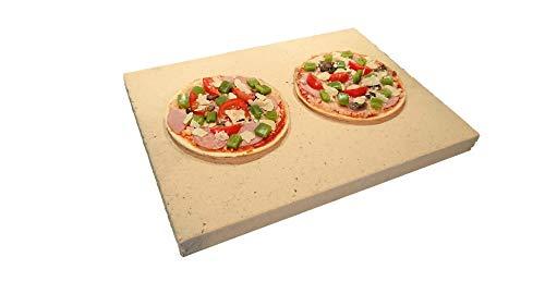Pietra per pizza, rettangolare, per forno e griglia, 40 x 30 x 3 cm, in argilla refrattaria...