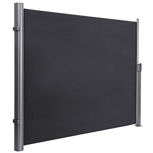 SONGMICS GSA160G Seitenmarkise für Balkon und Terrasse, TÜV SÜD GS Zertifiziert, Sichtschutz, Sonnenschutz