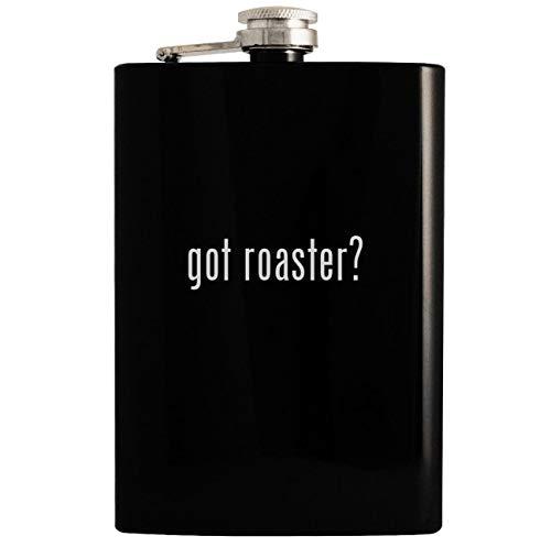 got roaster? - Black 8oz Hip Drinking Alcohol Flask
