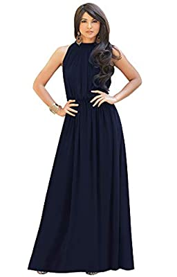 Plus sized maxi dresses for women; plus size gowns; slimming Dark Navy Blue gowns; stretchy flattering womans clothes; dressy ladies clothing; big size dresses; full figure garments; comfortable comfy apparel; curvy maxi dress without sleeves Casual ...