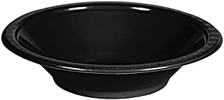 Creative Converting Touch of Color Plastic Bowls Party Supplies, 12oz, Black,28134051