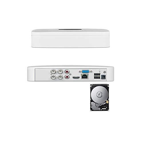 GENERAL TRADES Registratore Videosorveglianza XVR DVR 5in1 4CH Canali 5MPX P2P Videoanalisi 1 TB