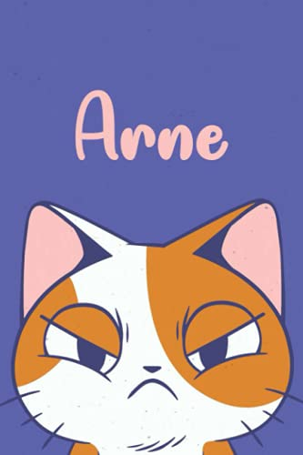Arne: Funny Cat Notebook, Lined Journal, Perfect gift for Cats Lovers,120 Pages
