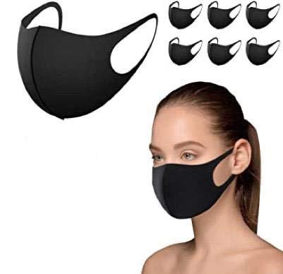 Maschera Paradenti, 12 maschere riutilizzabili, maschera antipolvere, maschera viso per corsa, ciclismo, sci, attivit all'aperto, lavabile, seta [colore nero]