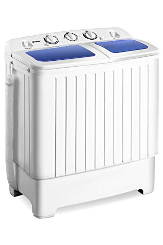 Giantex Portable Mini Compact Twin Tub Washing Machine 17.6lbs...