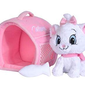 Simba Toys Peluches Disney - Peluche de Marie con Transportín y Pez, de la Película Los Aristogatos, para Niños de todas…