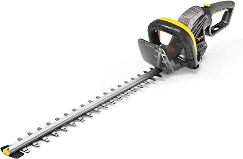 TECCPO Tagliasiepi Elettrico, 600W Tagliasiepi, Lunghezza della Lama 610mm, Diametro di Taglio 24mm,...