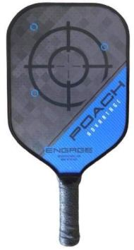Engage Poach Advantage Black Edition Pickleball Paddle (Blue, Lite (7.5-7.8 oz))