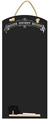 Chalkboards UK Sweet Home Tall Thin Lavagna/Lavagna/memo Board da Cucina con Corda, Vassoio e Gesso....