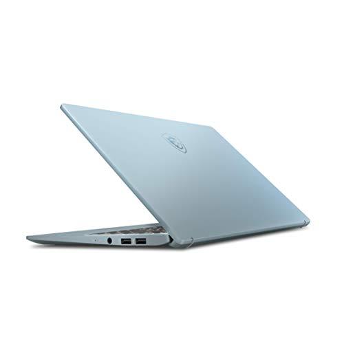 """MSI Modern 14 B4MW-056XES - Ordenador portátil de 14"""" FHD (Ryzen 5 4500U, 8GB RAM, 512GB SSD, UMA, sin sistema operativo) azul - Teclado QWERTY Español"""