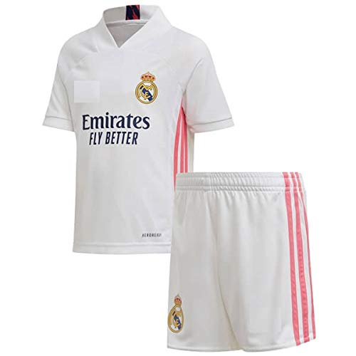 GOLDEN FASHION Real Madrid Home 2020-21 Football Jersey with Short for Men and Women Unisex (Medium)