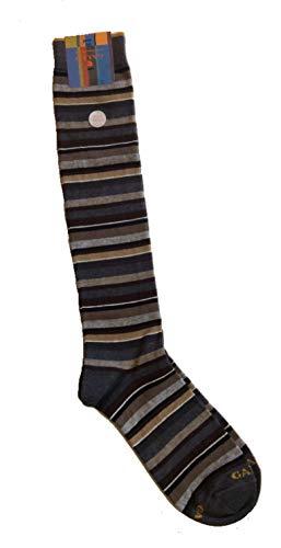 Gallo calze uomo righine multicolor in cotone e cashmere art. AP102852 colore sasso/panna taglia unica 40-45
