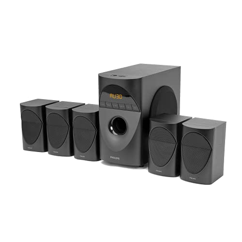 Philips Audio in-SPA 5190B/94 5.1 Channel 90W Multimedia Bluetooth Speaker System with 5x10W...