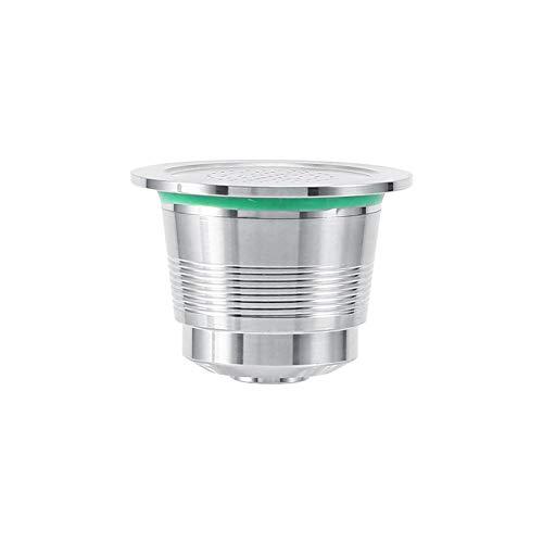 Capsule di caffè Nespresso Capsula ricaricabile in acciaio inossidabile, uso illimitato. Capsula per macchine da caffè che necessitano di capsule, misura 3,7 x 2,7 cm