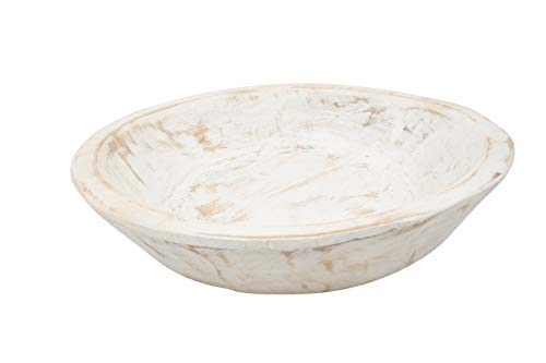 Round Wooden Dough Bowl-Batea-Pure White