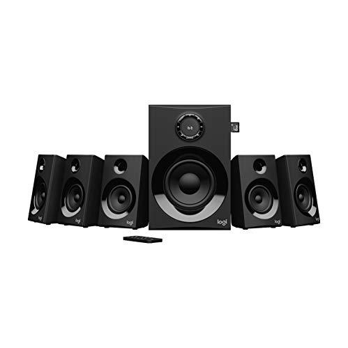 Logitech Z607 5.1 Surround Sound Lautsprecher (Bluetooth, CINCH, 160 W Spitzenleistung, Fernbedienung, kompatibel mit Computern, PCs, Fernsehern, Telefonen und Tablets)