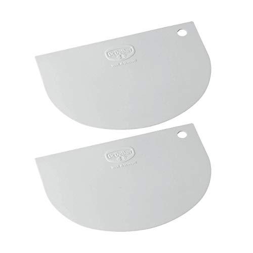 Dr. Oetker 1635 Teigschaber Classic, aus flexiblem Kunststoff, weiß (2 Stück)