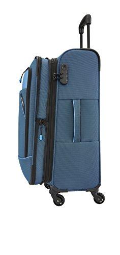 Travelite DERBY 4-Rad Trolley M erweiterbar, Blau, 87548-20 Bagaglio a mano, 66 cm, 69 liters, Blu...