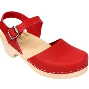 Lotta From Stockholm Low Wood Clogs in Red