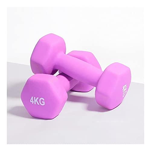 Pesetti Dumbbells Set a Paio di Campane da Stiro di Ferro 1 kg / 2 kg / 3 kg / 4 kg / 5 kg 10lb per Palestra Home Bodybuilding Allenamento Esercizio per Le Donne Fitness (Color : 4KGx2)