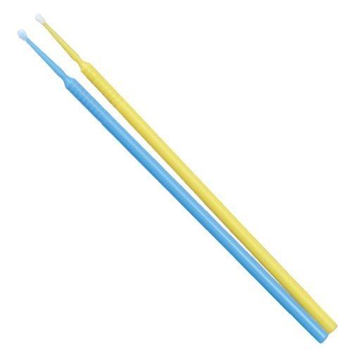TPCアプリケーターブラシ(マイクロブラシ)ファインφ1.5mm 100本入り(カラー:ブルーorイエロー)